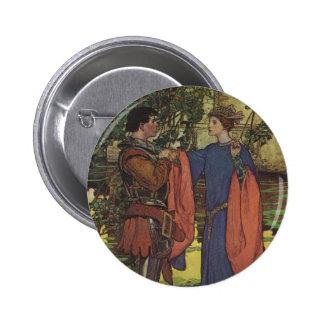 Vintage Hero Prince Knight Shining Armor Princess Pinback Buttons
