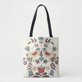 Vintage Hex Sign Amish Bird Country Tote Bag