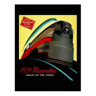 Vintage Hiawatha Streamlined Train Postcard
