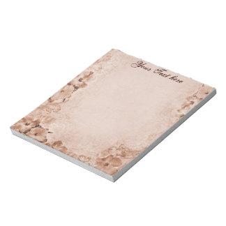Vintage Hibiscus Notepad