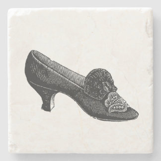 Vintage High Heel Shoe Stone Beverage Coaster