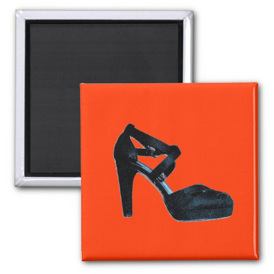 Vintage High Heel shoe Pop art Magnet