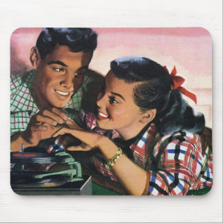 Vintage High School Sweet Hearts, Promise Ring Mouse Pad