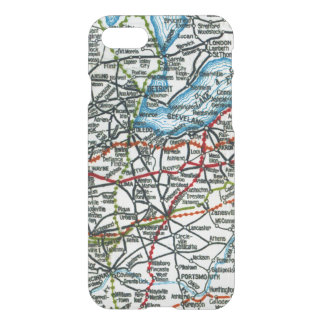 Vintage Highway Map Detroit, Cleveland, Columbus iPhone 7 Case