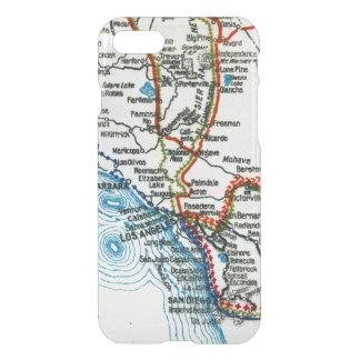 Vintage Highway Map Los Angeles and San Diego iPhone 7 Case