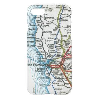 Vintage Highway Map of San Francisco iPhone 7 Case