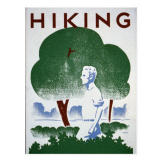 Vintage Hiking Recreation WPA Postcard