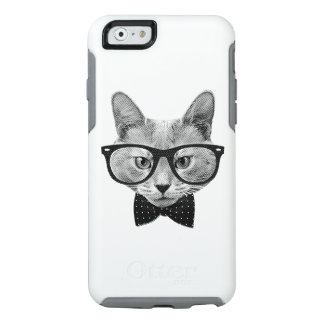 Vintage hipster cat OtterBox iPhone 6/6s case