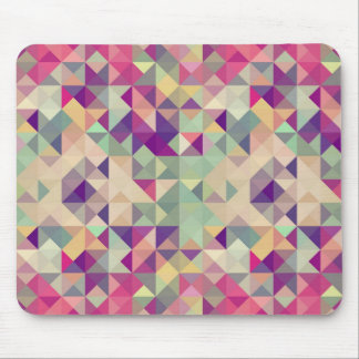Vintage Hipsters Geometric Pattern. Mouse Pad
