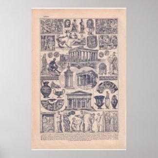 VIntage historic 1920  Greece Poster