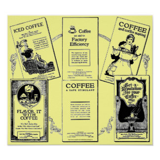 """Vintage & Historic coffee booklet medley"" Poster"