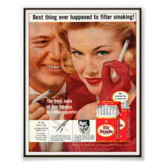 Vintage Hit Parade Cigarette Advertising 1957 Photographic Print