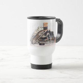 Vintage Hockey Goalie Skate Mask Travel Coffee Mug