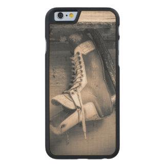Vintage hockey skate BW Carved Maple iPhone 6 Case