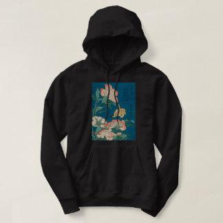 Vintage Hokusai Peonies and Canary GalleryHD Art Hoodie