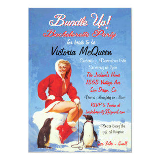 Vintage Holiday Bachelorette Party Invitations
