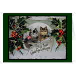 Vintage Holiday Kittens Wearing Bows