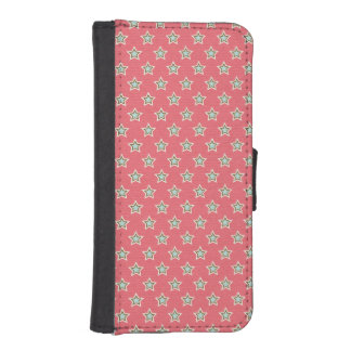Vintage Holiday Stars Pattern iPhone 5 Wallet Case