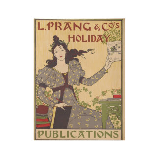 Vintage Holiday Travel Wood Poster
