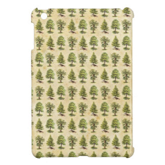 Vintage Holiday Trees Pattern Cover For The iPad Mini