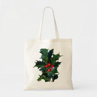 Vintage Holly Leaf Berry Bag