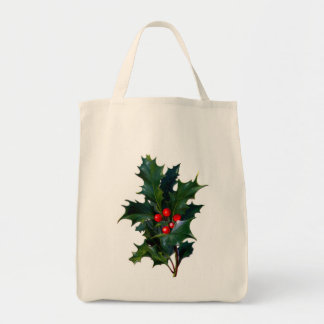 Vintage Holly Reusable Bag