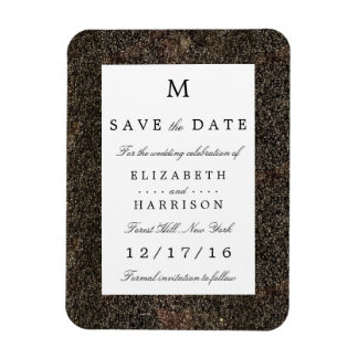 Vintage Hollywood Glam Wedding Save The Date Magnet