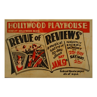 Vintage Hollywood Playhouse Music Poster
