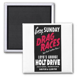 Vintage Holt Drive Drag Races sign Magnet