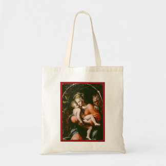 VINTAGE HOLY FAMILY BUDGET TOTE BAG