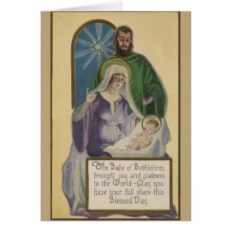 Vintage Holy Family Christmas Greeting Card