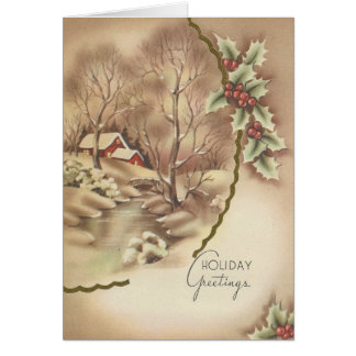 Vintage Home At Christmas Card