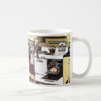 Vintage Home Interior, Mom in the Kitchen Cooking Coffee Mug