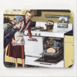 Vintage Home Interior, Mum in the Kitchen Cooking Mouse Mats
