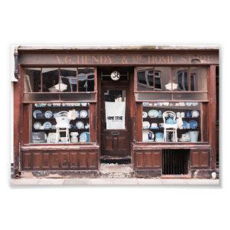 vintage home store shop front photo print