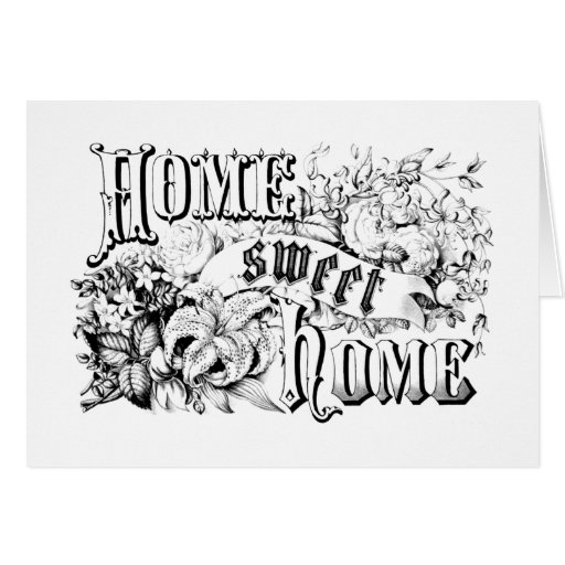 Vintage Home Sweet Home Home Decor and Gifts Card