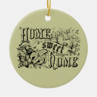 Vintage Home Sweet Home Home Decor and Gifts Round Ceramic Decoration