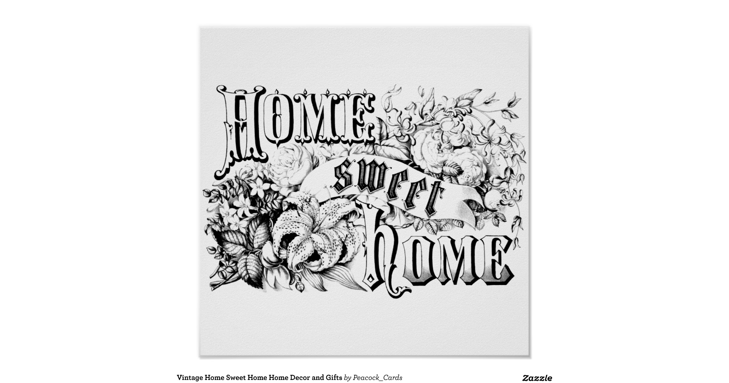 Vintage Home Sweet Home Home Decor And Gifts Poster Zazzle