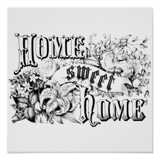 Vintage Home Sweet Home Home Decor and Gifts Poster