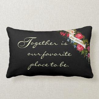 Vintage Home Sweet Home Victorian Floral-Pillow Lumbar Pillow