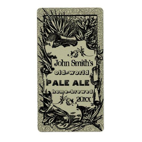 Vintage HomeBrewed Beer Label Grey