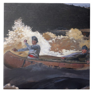 Vintage Homer Shooting The Rapids, Saguenay River Ceramic Tile