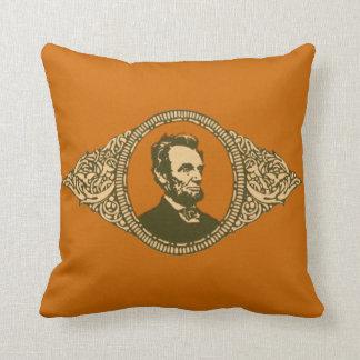 Vintage Honest Abe Lincoln President Portrait Throw Pillow