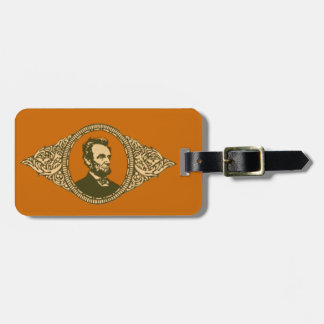 Vintage Honest Abe Lincoln President Portrait Luggage Tag