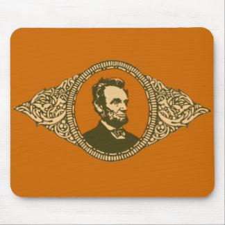 Vintage Honest Abe Lincoln President Portrait Mouse Pad