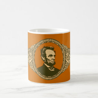 Vintage Honest Abe Lincoln President Portrait Coffee Mugs