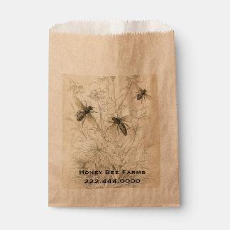 Vintage Honey Bees Business Food Bag Favour Bags