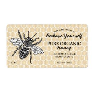 Vintage Honeycomb Honeybee Honey