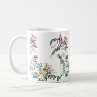 Vintage Honeysuckle Peas Wildflower Flowers Mug
