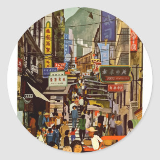 Vintage Hong Kong Classic Round Sticker